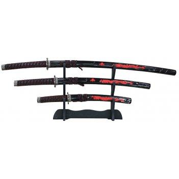 Набор самурайских мечей: катана, вакидзаси и танто огненный дракон