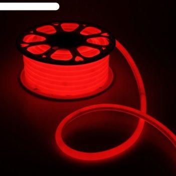 Гибкий неон круглый d 16 мм, 25 метров, led-120-smd2835, 220 v, красный