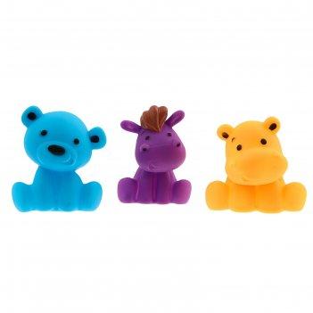 Игрушки для ванны «друзья 2», набор 3 шт., цвета микс