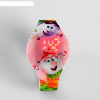 Электронные наручные часы фотон, смешарики, hws-62, розовые