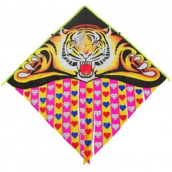 Воздушный змей тигр с леской