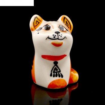 Статуэтка фарфоровая «кошка туземка», 5см