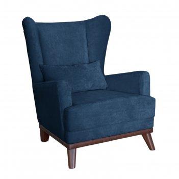 Кресло оскар, велюр синий