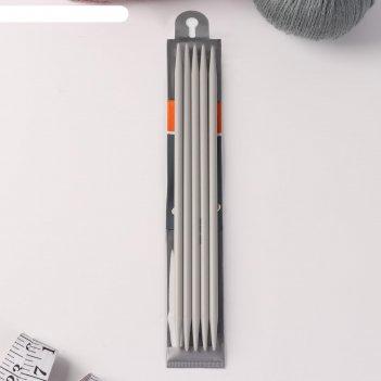 Спицы для вязания, чулочные, d = 6 мм, 23 см, 5 шт