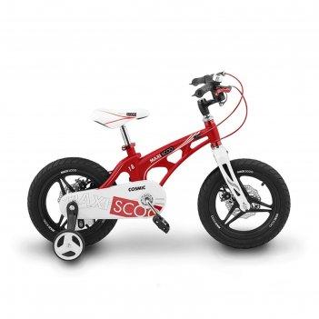 Велосипед 18 maxiscoo cosmic «делюкс», цвет красный