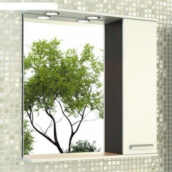 Зеркало-шкаф для ванной манчестер-75 78,6 х 75 х 15,4 см, цвет венге