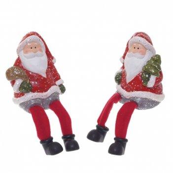 Фигурка новогодняя дед мороз, l7,2 w6 h9,7 см, 2в.