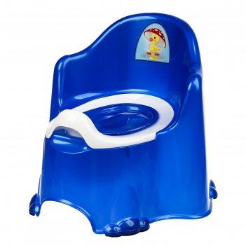 Горшок детский антискользящий «комфорт» с крышкой, съёмная чаша, цвет сини