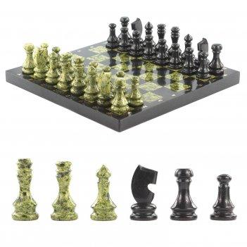 Шахматы доска 400х400 мм змеевик