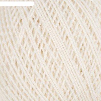 Нитки вязальные пион 200м/50гр 70% хлопок, 30% вискоза цвет 0102