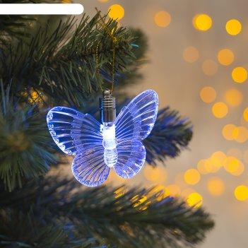 Подвеска световая бабочка, 10 см, батарейки в комплекте
