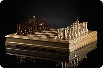 Шахматы стаунтон фаворит (светлая доска) kadun 46х46см