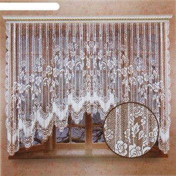 Штора со шторной лентой, размер 470х165 см, цвет белый