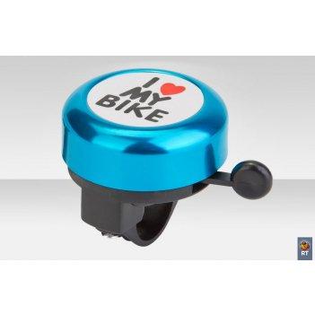 45ae-09 звонокi love my bike алюминий чёрно-синий
