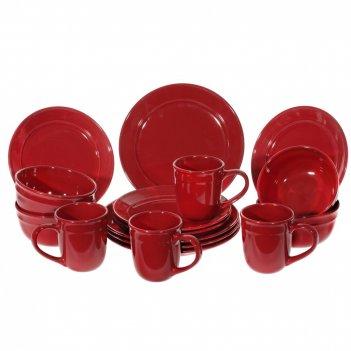 Набор посуды на 4 персоны, 16 предм. (кружка 450мл, бульонница 16*8,5, тар