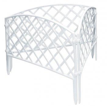 Забор декоративный сетка 24 x 320 см, белый россия palisad