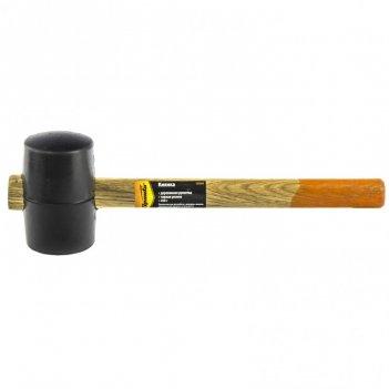 Киянка резиновая, 450 г, черная резина, деревянная рукоятка sparta