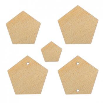 Набор декоративных элементов многогранник