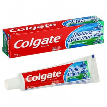 Зубная паста colgate тройное действие, 50 мл