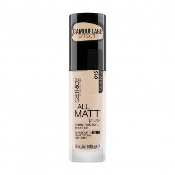 Тональная основа catrice all matt plus shine control make up, оттенок 015