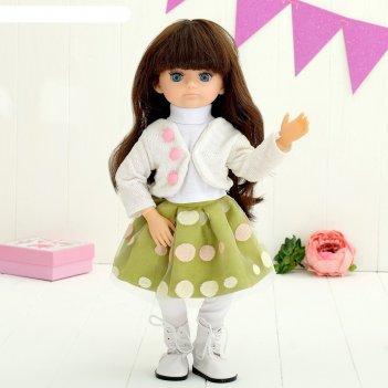 Кукла интерактивная шарнирная «алиса» с аксессуарами и микрофоном, мимика