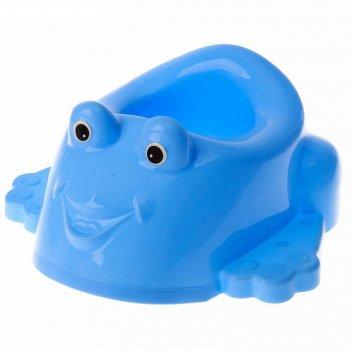 Детский горшок-игрушка «лягушонок», цвет голубой
