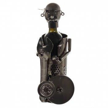 Подставка для бутылки слесарь, l14 w14 h25 см