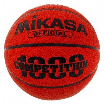 Мяч баскетбольный mikasa bq1000, р.7, коричнево-оранжево-черный