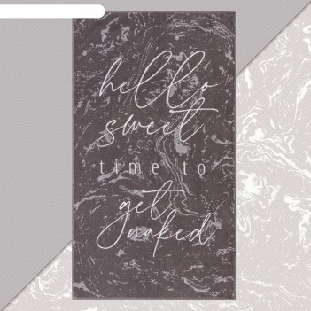 Полотенце махровое этель hello sweet 70х130 см, 100% хлопок, 420гр/м2