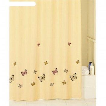 Штора для ванной комнаты 200х200 см yellow butterfly