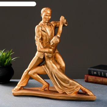 Фигура танго золото 38х12х38см