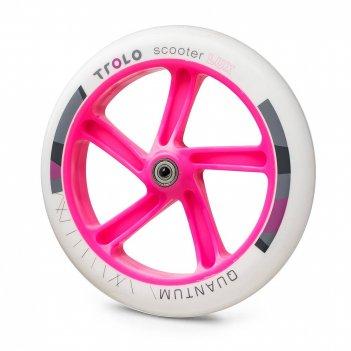 Колесо с подш. trolo quantum 230 мм белый/розовый