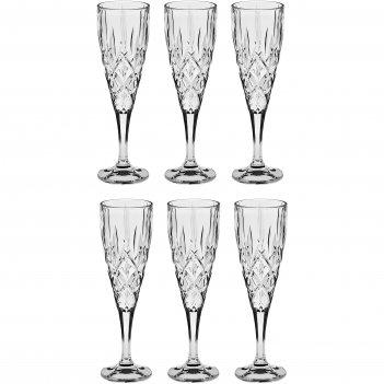 Набор из 6 бокалов для шампанского, 180 мл