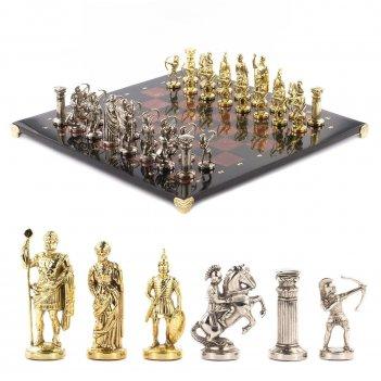 Шахматы лучники доска 450х450 мм лемезит змеевик металл