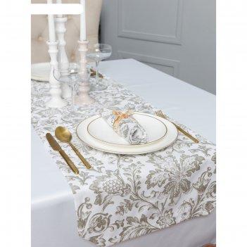 Дорожка на стол «золото», размер 40 x 140 см