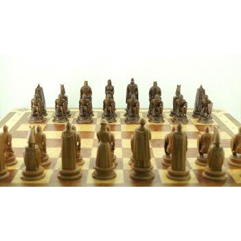 Шахматные фигуры ледовое побоище, бук-орех