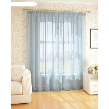 Вуаль, размер 300 x 260 см, светло-голубой t101-09