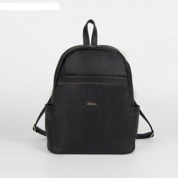 Рюкзак 1460, 27*15*35,5, отд на молнии, 3 н/кармана, черный