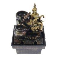 Фонтан лакшми с музыкальным инструментом золото 19,5х13,5х10 см