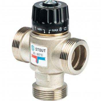 Клапан смесительный stout svm-0025-356532, 1 1/4 наружняя резьба, 30-65°с