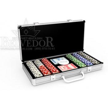 Набор для покера на 300 фишек ultimate poker 14гр.