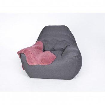 Кресло бескаркасное «эдем», тёмно-серый, рогожка