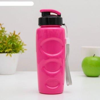 Бутылка для воды и других напитков 500 мл health and fitness, цвет микс