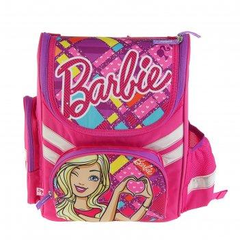 Ранец стандарт barbie 35 х 26.5 х 13, для девочки, eva-спинка, подарок-кук