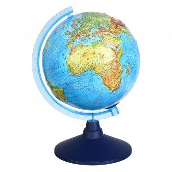 Глобус физико-политический рельефный «классик евро», диаметр 210 мм, с под
