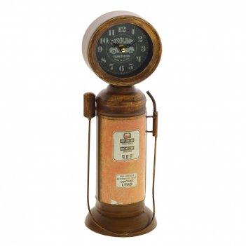 Часы настольные декоративные бензоколонка, l12 w12 h36 см, (1хаа не прилаг