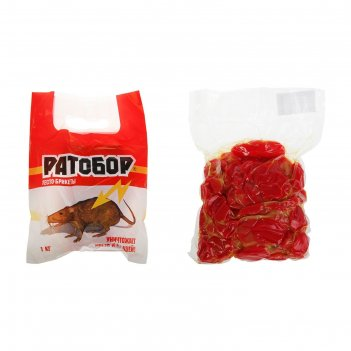 Брикет тесто-сырный ратобор от грызунов пакет, 1 кг