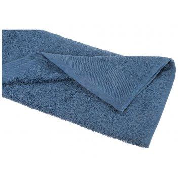 Полотенце 40*70 см, 100% хлопок, плотность 450 г/м2 цвет васильковый (кор=