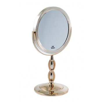 Зеркало b7 8066 g10/ gold наст. кругл. 2-стор. 10-кр.ув.18 с