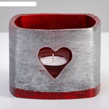 Лампион желание квадрат, 13х13х9,5 см, серебряный